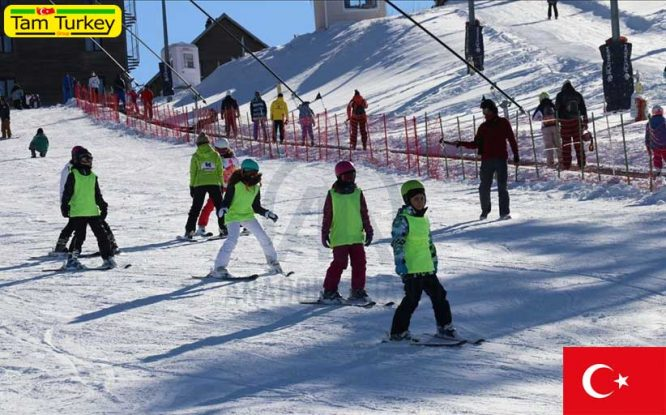 ارتفاع 229 سانتیمتری برف در پیست اسکی کارتالکایا ترکیه