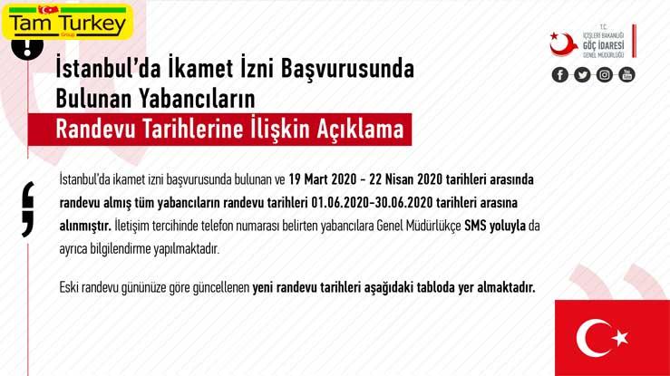 تغییر تاریخ راندوو متقاضیان اقامت ترکیه