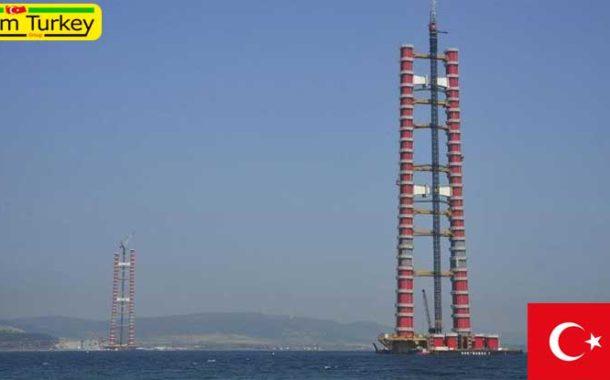 مراحل نهایی ساخت طولانیترین پل معلق جهان در ترکیه