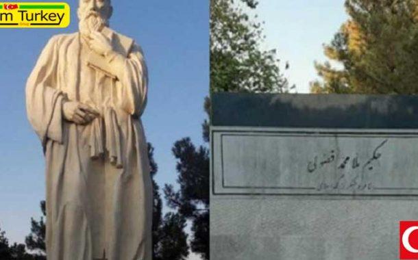 مجسمه فضولی شاعر بزرگ آذربایجان در تبریز ناپدید شد