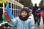 جشن آزادسازی لاچین در خیابانهای باکو