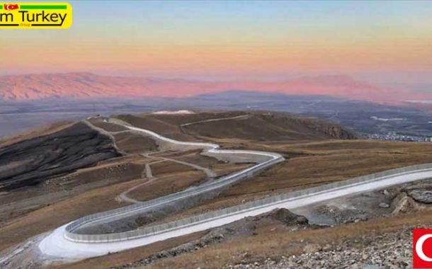 پایان ساخت دیوار امنیتی در مرز آغری ترکیه با ایران