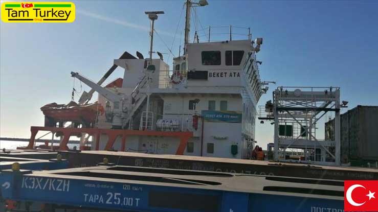 اولین قطار صادراتی ترکیه به چین به قزاقستان رسید