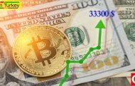 قیمت بیت کوین از 33،000 دلار گذشته است