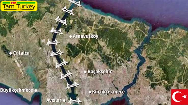 میزان درآمد پروژه کانال استانبول اعلام شده است : 1 میلیارد دلار در سال