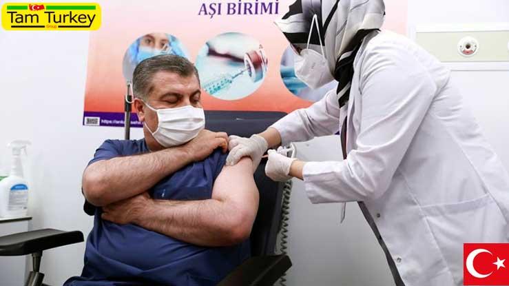 تزریق بیش از 1 میلیون و 416 هزار دوز واکسن کرونا در ترکیه طی یک روز