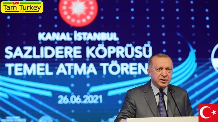 تاکید اردوغان بر اهمیت اجرای پروژه کانال استانبول